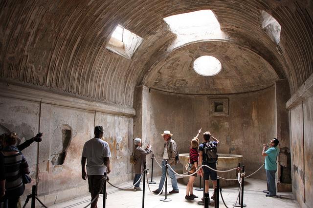 Bath house, Pompeii