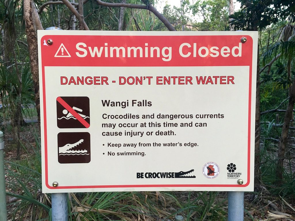 Swimming Closed Sign