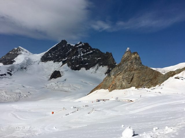 Looking back at Jungfraujoch