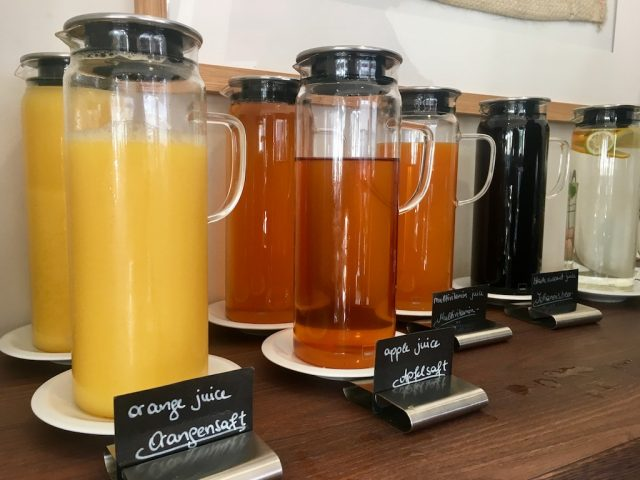 Juices at Hotel B&B
