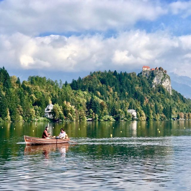 Rowing on Lake Bled